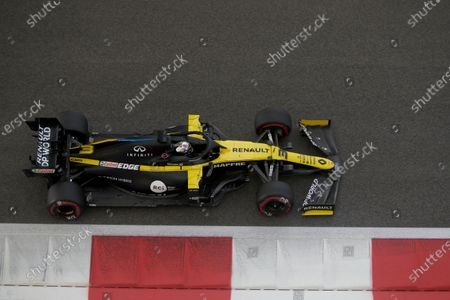 Renault driver Daniel Ricciardo of Australia in action during the third practice at the Yas Marina racetrack in Abu Dhabi, United Arab Emirates, . The Emirates Formula One Grand Prix will take place on Sunday
