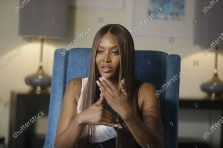 British model Naomi Campbell, Speaks to the Associated Press, during an Interview before ARISE Fashion Week event in Lagos, Nigeria
