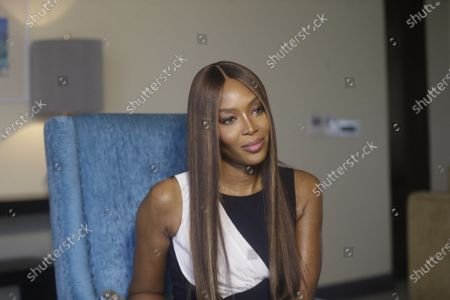 British model Naomi Campbell, Speaks to Associated Press, during an Interview before ARISE Fashion Week event in Lagos, Nigeria