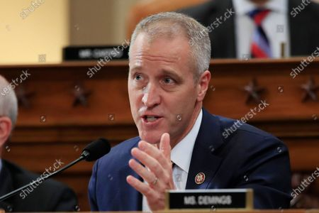 Stock Image of This photo from, shows Rep. Sean Patrick Maloney, D-N.Y., during a meeting of the House Intelligence Committee on Capitol Hill in Washington. Maloney takes over the Democratic Congressional Campaign Committee in January 2021, following an unexpectedly dismal election that saw 12 of the party's incumbents defeated and another still trailing narrowly