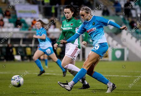 Cork City vs Peamount United. Peamount's Stephanie Roche scores a goal