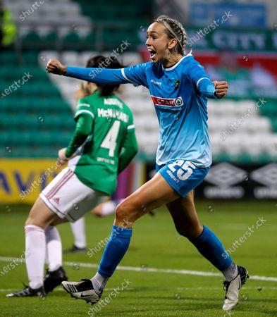 Cork City vs Peamount United. Peamount's Stephanie Roche celebrates scoring a goal