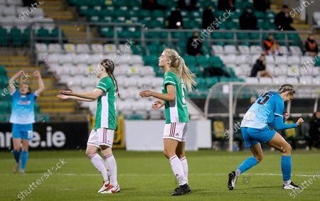 Cork City vs Peamount United. Peamount's Stephanie Roche celebrates her second goal