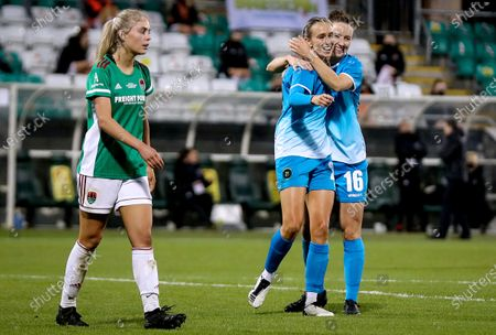 Stock Picture of Cork City vs Peamount United. Peamount's Stephanie Roche celebrates her second goal