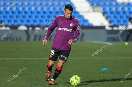Antonio Sanchez of RCD Mallorca during La Liga football match played between CD Leganes and RCD Mallorca at Butarque stadium on December 12, 2020 in Leganes, Madrid, Spain.