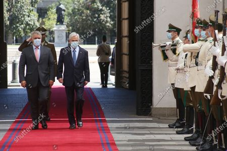 Editorial image of Pinera hands over to Duque the pro tempore presidency of Prosur in Santiago, Chile - 12 Dec 2020