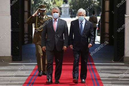 Editorial photo of Pinera hands over to Duque the pro tempore presidency of Prosur in Santiago, Chile - 12 Dec 2020