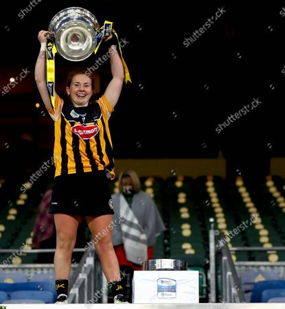 Stock Picture of Galway vs Kilkenny. KilkennyÕs Katie Nolan lifts the trophy