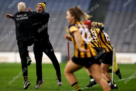 Galway vs Kilkenny. Kilkenny manager Brian Dowling celebrates at the final whistle