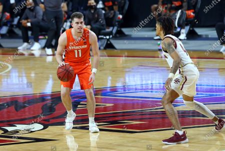 Editorial image of NCAA Basketball Syracuse vs Boston College, Chestnut Hill, USA - 12 Dec 2020