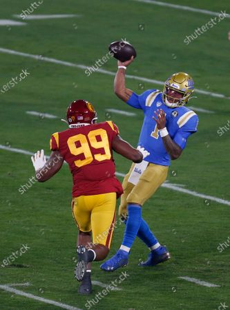 Editorial photo of NCAA Football USC vs UCLA, Pasadena, USA - 12 Dec 2020