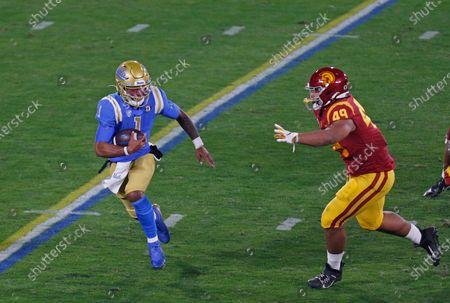 Editorial image of NCAA Football USC vs UCLA, Pasadena, USA - 12 Dec 2020