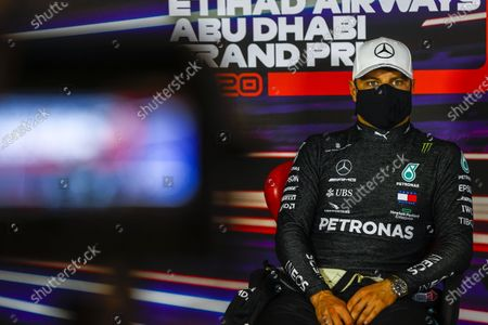 Valtteri Bottas, Mercedes-AMG Petronas F1, 2nd position, in the Press Conference during the 2020 Formula One Abu Dhabi Grand Prix