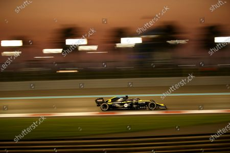 Stock Picture of Renault driver Daniel Ricciardo of Australia in action during the Formula One race in the Yas Marina racetrack in Abu Dhabi, United Arab Emirates, Sunday, Dec.13, 2020