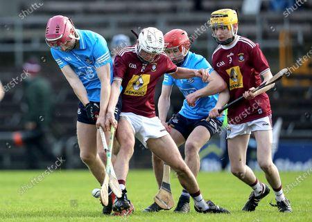 Stock Photo of Westmeath vs Dublin. Dublin's James O'Brien and Peter Clarke of Westmeath