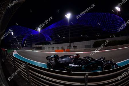 Mercedes driver Lewis Hamilton of Britain in action during the Formula One Abu Dhabi Grand Prix in Abu Dhabi, United Arab Emirates