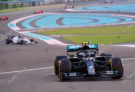 Mercedes driver Valtteri Bottas of Finland in action during the Formula One Abu Dhabi Grand Prix in Abu Dhabi, United Arab Emirates