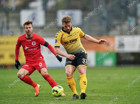 Stock Photo of Alexander Ludwig of AC Horsens during AC Horsens versus Aarhus GF on Casa Arena Horsens , Horsens, Denmark