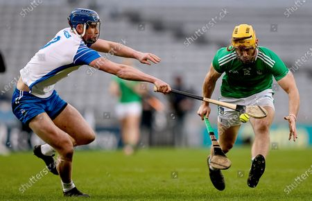 Waterford vs Limerick. Waterford's Conor Prunty with Tom Morrissey of Limerick
