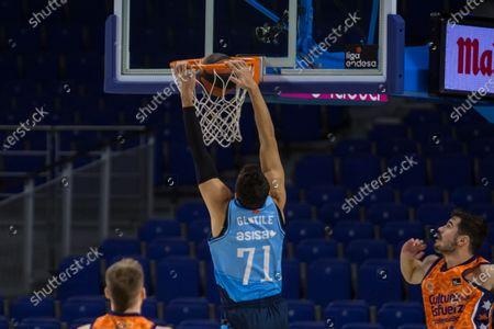 Editorial image of Movistar Estudiantes - Valencia Basket Club, Madrid, Spain - 13 Dec 2020