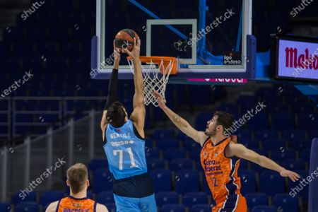 Stock Image of Alessandro Gentile during Valencia Basket Club victory over Movistar Estudiantes (81 - 86) in Liga Endesa regular season game (day 14) celebrated in Madrid (Spain) at Wizink Center. December 13th 2020.