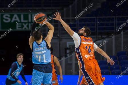 Stock Picture of Alessandro Gentile during Valencia Basket Club victory over Movistar Estudiantes (81 - 86) in Liga Endesa regular season game (day 14) celebrated in Madrid (Spain) at Wizink Center. December 13th 2020.
