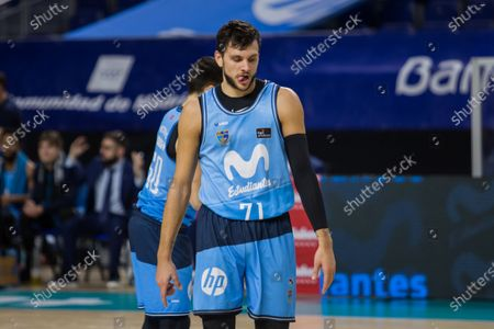 Stock Photo of Alessandro Gentile during Valencia Basket Club victory over Movistar Estudiantes (81 - 86) in Liga Endesa regular season game (day 14) celebrated in Madrid (Spain) at Wizink Center. December 13th 2020.