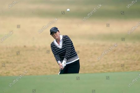 Stock Image of Cristie Kerr hits toward the first green during the final round of the U.S. Women's Open golf tournament, in Houston