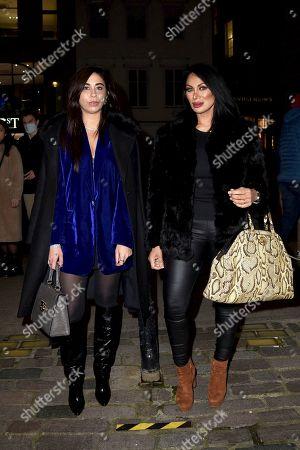 Stock Photo of Courtenay Semel and Jeanine Nerissa Sothcott are seen at Hush Mayfair,