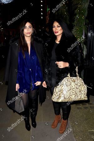 Editorial image of Courtenay Semal And Jeanine Nerissa Sothcott out and about, London, UK - 13 Dec 2020