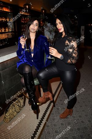 Stock Image of Courtenay Semel and Jeanine Nerissa Sothcott are seen at Hush Mayfair,