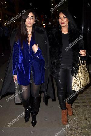 Courtenay Semel and Jeanine Nerissa Sothcott are seen at Hush Mayfair,
