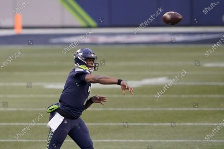 Seattle Seahawks quarterback Geno Smith in action against the New York Jets during the second half of an NFL football game, in Seattle