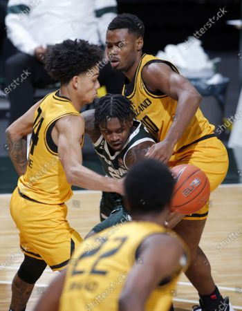 Editorial photo of Oakland Michigan St Basketball, East Lansing, United States - 13 Dec 2020