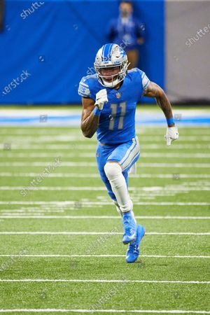 Detroit Lions wide receiver Marvin Jones (11) in action against the Green Bay Packers during an NFL football game, in Detroit