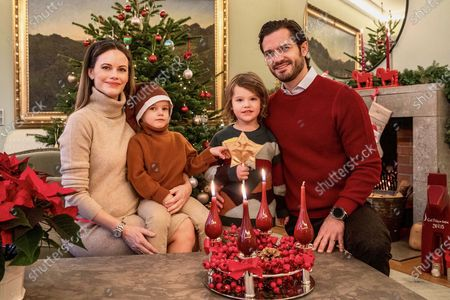 Prince Carl Philip, Princess Sofia, Prince Alexander and Prince Gabriel Advent greeting from their home at Kungl