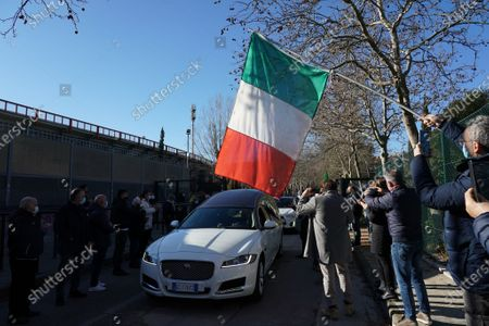 Stock Picture of Commemoration for Paolo Rossi at the Curi stadium in Perugia