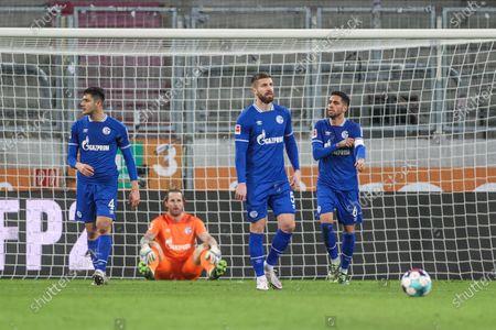 Ozan Kabak (FC Schalke 04), Ralf Fährmann (FC Schalke 04), Matija Nastasic (FC Schalke 04), Omar Mascarell (FC Schalke 04)