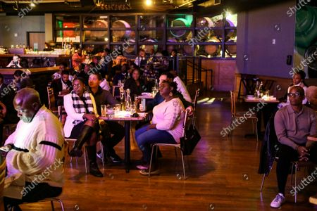 Stock Picture of Socially distanced crowd watches Chrisette Michele perform during the limited capacity concert at City Winery, in Atlanta