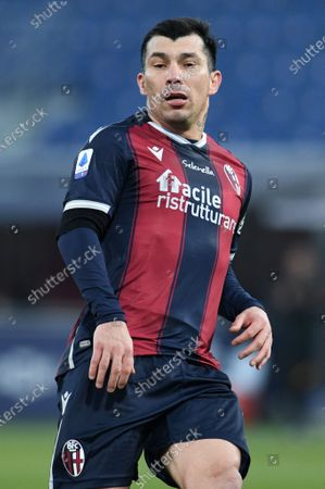 Gary Medel of Bologna FC in action during Bologna FC vs AS Roma, Italian football Serie A match in Bologna, Italy, December 13 2020