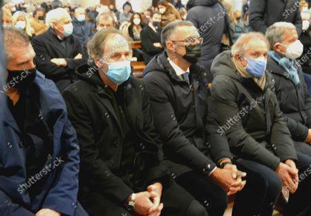 Funeral of Paolo Rossi, Daniele Massaro, Franco Baresi, Giuseppe Beppe Bergomi and Alessandro Altobelli