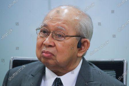 United Malays National Organisation (UMNO) advisory board chairman Tengku Razaleigh Hamzah reacts during press conference in Kuala Lumpur, Malaysia, 14 December 2020. Tengku Razaleigh also UMNO veteran claimed that current prime minister Muhyiddin Yassin is not a legitimate prime minister.