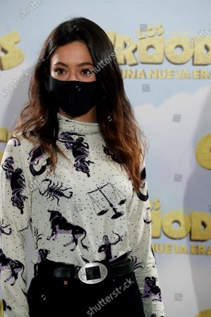 Anna Castillo poses during the presentation of the film 'The Croods. A New Era' in Madrid, Spain, 14 December 2020.