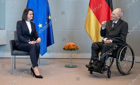 Sviatlana Tsikhanouskaya and Wolfgang Schauble, President of German Bundestag