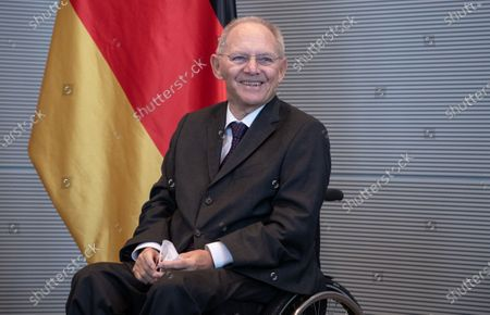 Stock Picture of Wolfgang Schauble, President of German Bundestag