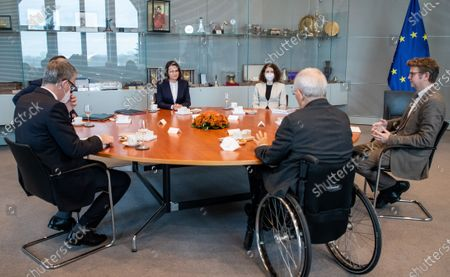 Stock Photo of Sviatlana Tsikhanouskaya and Wolfgang Schauble, President of German Bundestag
