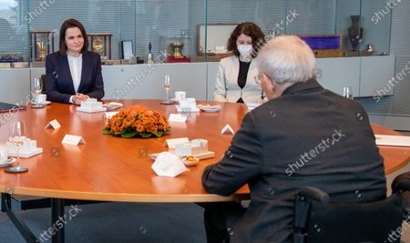 Editorial picture of Belarusian Politician Sviatlana Tsikhanouskaya visit to Berlin, Germany - 14 Dec 2020