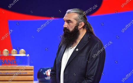 2023 Rugby World Cup Draw, Palais Brongniart, Paris, France 14/12/2020. France 2023 ambassador Sebastien Chabal