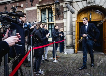 Wopke Hoekstra, Minister of Finance, after the extraordinary cabinet meeting at the Ministry of General Affairs about COVID-19 in The Hague, The Netherlands, 14 December 2020. Cabinet met over continued rising number of corona virus infections over the past week.