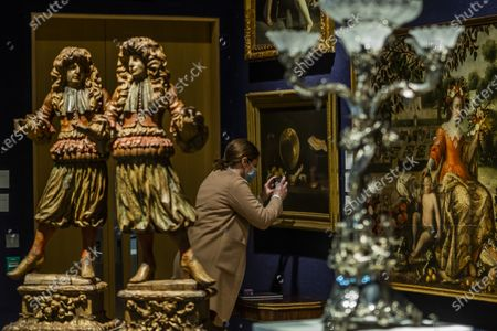 A good pair of late 17th century Italian carved and polychrome wood figures of courtly gentlemen, est £20,000 -30,000 with A Victorian silver centrepieceStephen Smith & William Nicholson, London 1854, est£4,000 -6,000 - Preview of Bonhams' final London sales of the year, including Old Masters and Fine Decorative Arts, 1200-1900. The Sale will take place on 18 December.